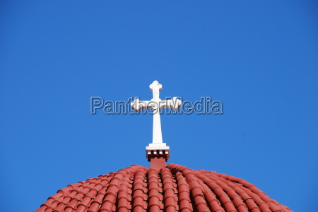 greek orthodox church cross dome crete