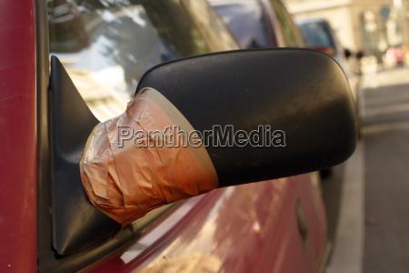 beschaedigte rueckspiegel repariert