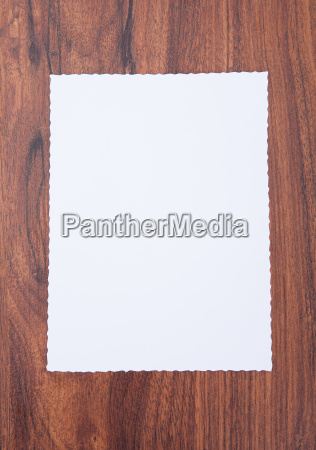 close up of blank paper