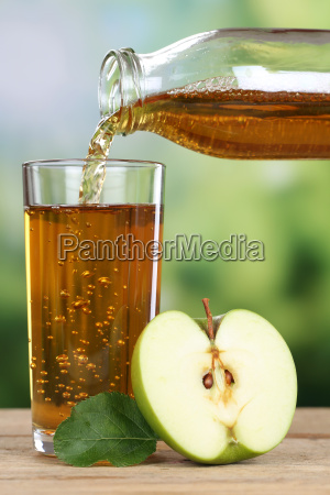 healthy eating apple juice pouring from