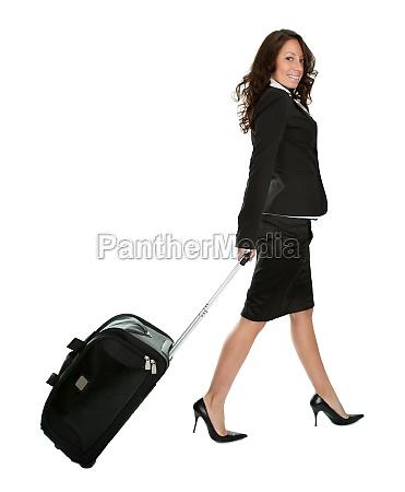 frau fahrt reisen dame deal geschaeft