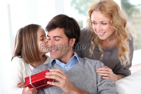 vatertags feier in der familie