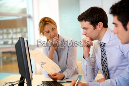 business team working in front of
