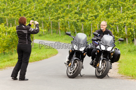 motorcyclist photographed her companion