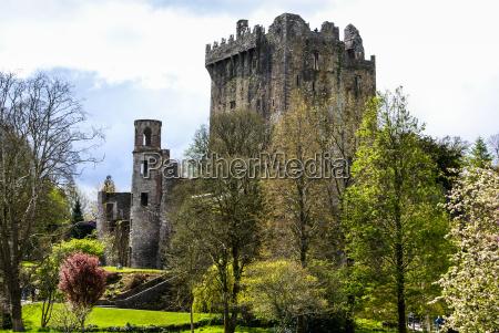 irsk slot blarney beromt for stenen