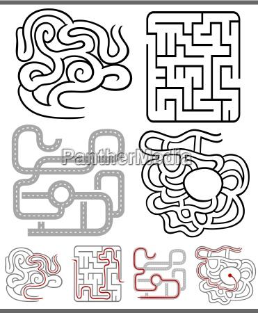 labyrinthe oder labyrinthe diagramme eingestellt