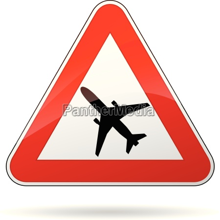 vector beware airplane sign