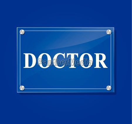 vector doctor sign