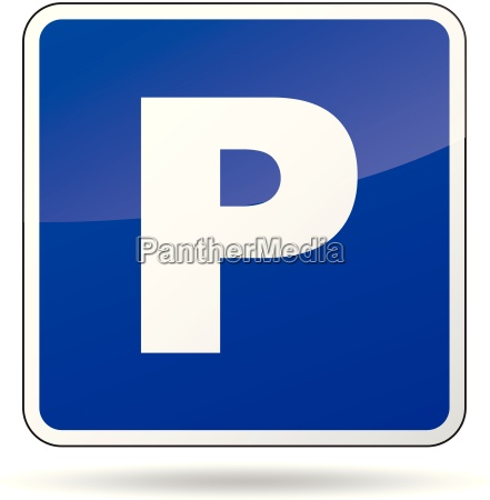 vector parking sign