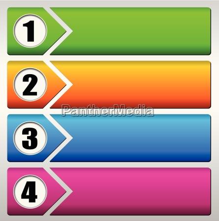 vector vier schritte hintergrund