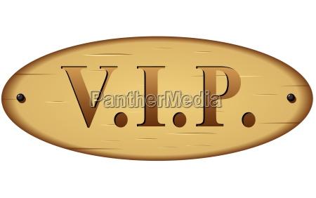 vector vip sign