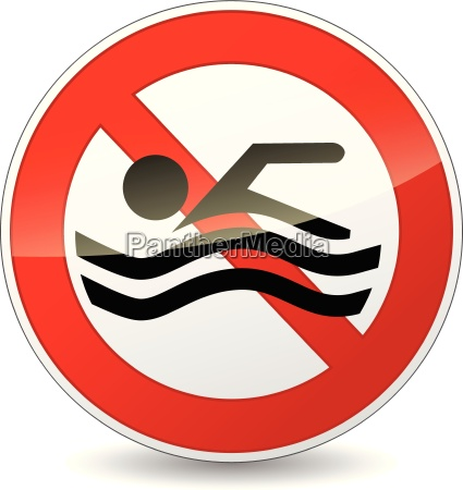 vector no swimming sign