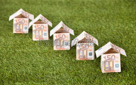 euro houses on grassy land
