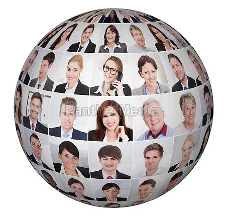 collage aus verschiedenen business people