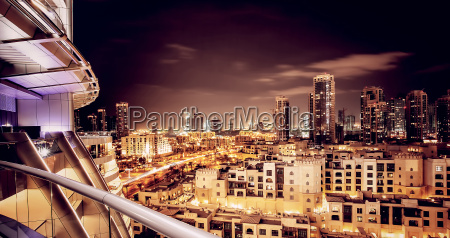 beautiful night cityscape of dubai