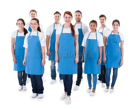 diverse gruppe von professionellen reinigungs