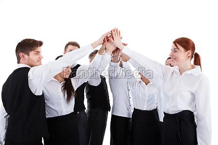 catering personal hoch fuenf geste