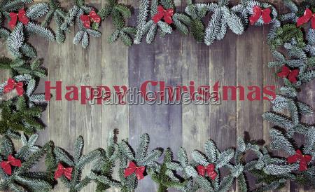 wood background happy christmas