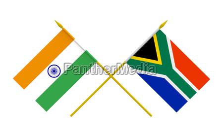 flaggen indien und suedafrika