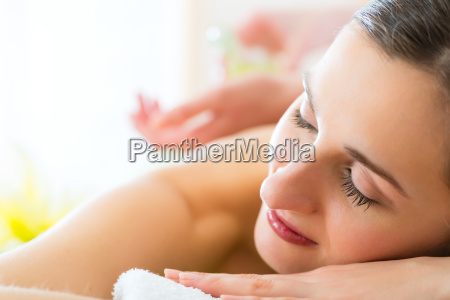 woman gets a massage at the