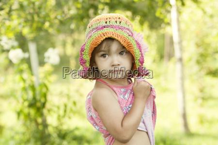 cute little girl in a summer