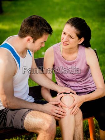 sport knie verletzt