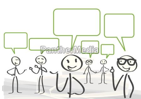 versammlung diskussion dialog