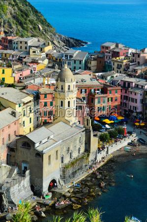traditionelle mediterrane architektur von vernazza italien