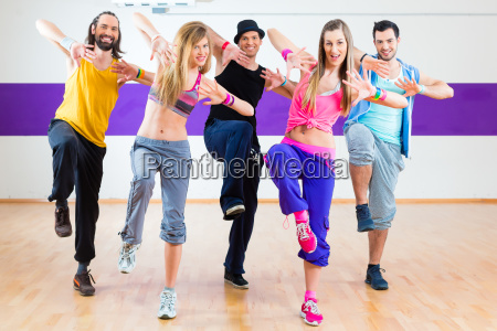 dancer exercising in zumba fitness dance