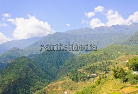 bergblick in sapa vietnam