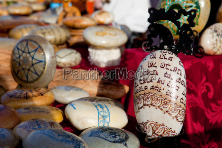 mandala gemalte kiesel