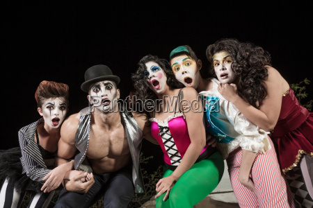surprised comedy ensemble
