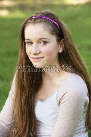 grinsend teen close up
