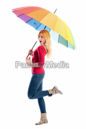 woman with umbrella