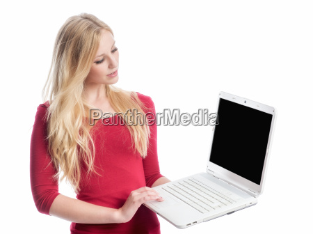 woman laptop notebook computers computer present