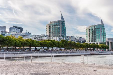 riverfront in lisbon park of nations