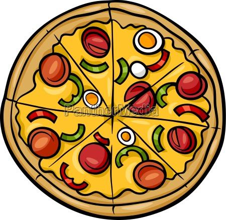 italienische pizza cartoon abbildung