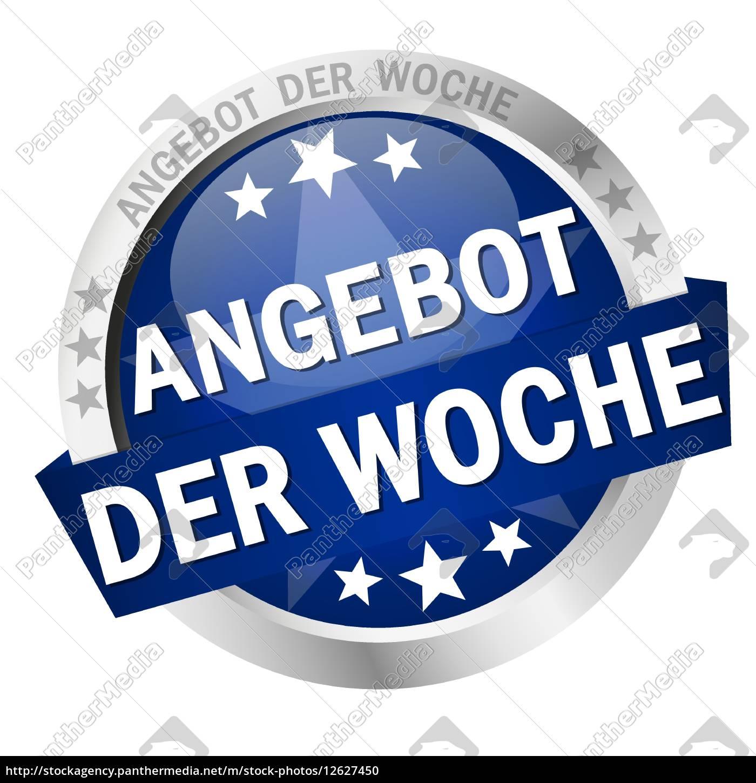 b44f473815c55d Lizenzfreie Vektorgrafik 12627450 - Button with banner Angebot der Woche