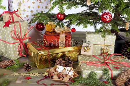 many parcel under christmas tree