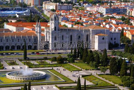 panorama von hieronymus kloster befindet sich