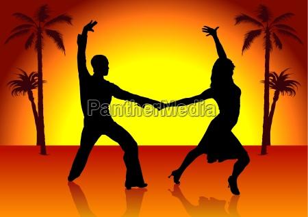 latino american dance colored background