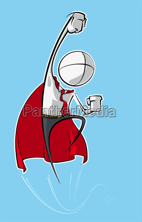 simple business people superhero