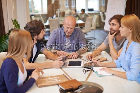 co workers at meeting