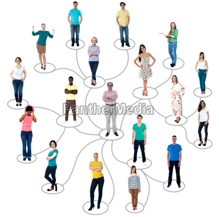 connected menschen soziale netzwerk kommunikation