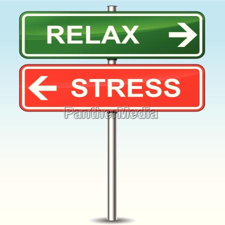 entspannen sie sich und stress zeichen