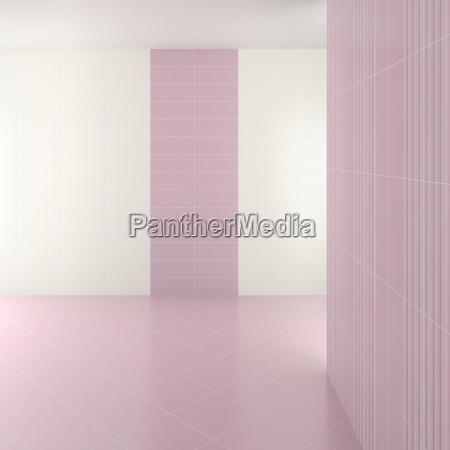 leer modernen badezimmer mit lila kacheln