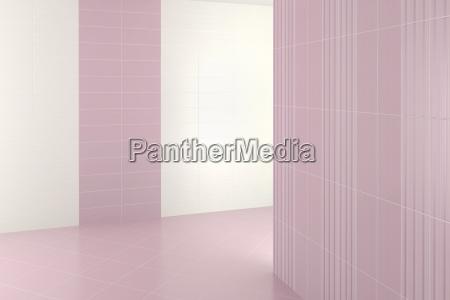 leeres modernes bad mit lila fliesen