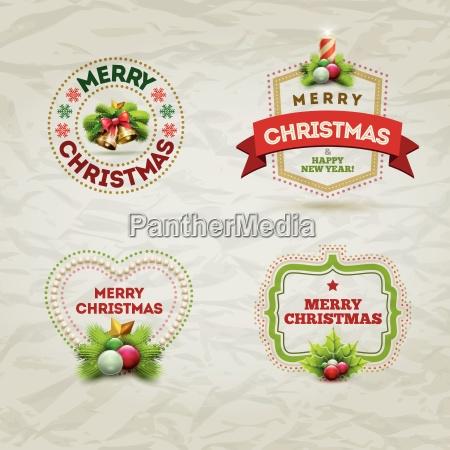 christmas badge set