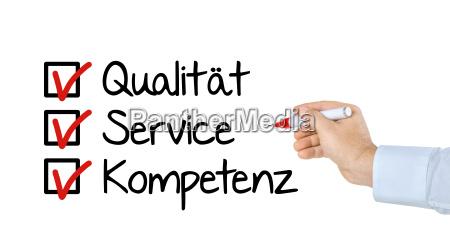 checkliste qualitaet service und kompetent