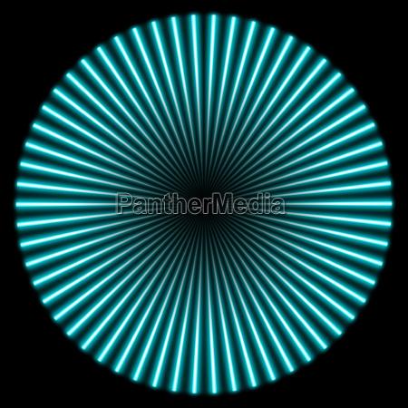 radial illustration